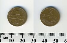 Portugal 1964 - 10 Centavos Bronze Coin - Circles within cross