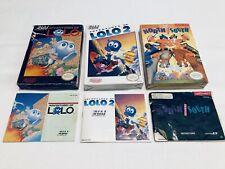 Lot 3 Original Box + Instruction Manuals NES Nintendo Lolo 1 & 2 North And South