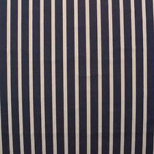 "SUNBRELLA 4283 NORTH MARINE OFF WHITE & BLUE STRIPE FABRIC BY THE YARD 54""W"
