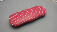 clam shell hard shell eyeglass case polda dots sold by CJ Optical