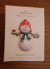 Hallmark Keepsake Welcome Friends Snowman Christmas Ornament Nib 2007