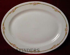 HAVILAND china H3678 PINK ROSES small OVAL MEAT PLATTER