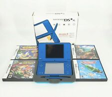 Nintendo DSi XL Midnight Blue Complete in Box Tested/Cleaned with 4 Games & Case