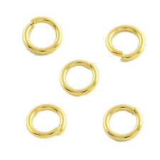 100pc 304 Stainless Steel Close Unsoldered Jump Ring Real Gold Plated 5mm Holder