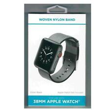 Apple Watch Band 38mm Black Woven Nylon Band Space Gray