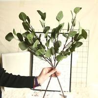 GI- Artificial Eucalyptus Leaf Branch Foliage Plant Flower Holiday Decor Novelty