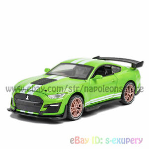 Ford Mustang Shelby GT500 1:32 Model Car Diecast Toy Vehicle Kids Gift Green