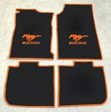Autoteppich Fußmatten für Ford Mustang Grande 1970-73 Coupe orange Velours 4tlg