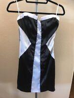 Fashion Blvd Boulevard Black And White Tube Clubbing Formal Dress Size Medium