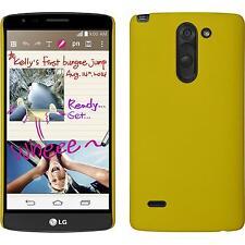 Custodia Rigida LG G3 Stylus - gommata giallo + pellicola protettiva