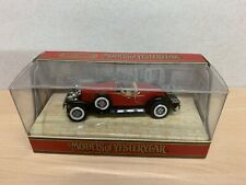 matchbox models of yesteryear YY 014A/C Stutz Bearcat 1931