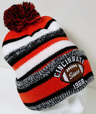 Cincinnati Football Hat with--Since 1968--with Pom--Knit Hat