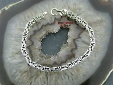 Königskette Armband Geschwärzt 6mm Silber 925 Königsarmband Balistyle Balichain