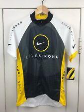 7dc7b1ccb NEW Womens Livestrong Nike Cycling Jersey Short Sleeve Half Zip