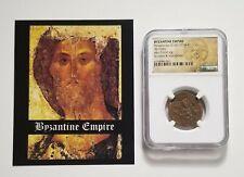 Ad 1078-81 Ae Follis - Nicephorus Iii, Byzantine Ancient Coin w/ Bust of Christ