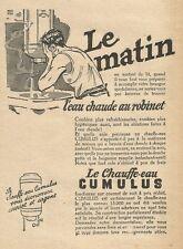 W0838 Le Chauffe eau CUMULUS - Pubblicità 1928 - Advertising