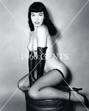 1950s NUDE 8X10 PHOTO BUSTY NICE ASS PINUP BETTIE PAGE FROM ORIGINAL NEG-7