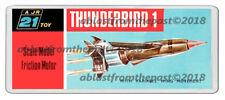 THUNDERBIRDS 1 JR 21 MODEL BOX ARTWORK NEW WIDE FRIDGE LOCKER MAGNET