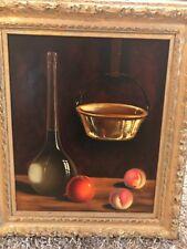 Vintage Still-Life Oil On Canvas Painting Signed Carlos Espinosa