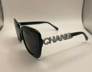 Authentic CHANEL CH5422B Women's Polarized Sunglasses -Black White-New With Box