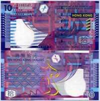 Hong Kong 10 Dollar 2002 AA Prefix P 400 UNC