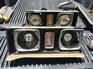 1972 Cadillac Deville Calais Headlight Bezel Trim - Pair RH LH