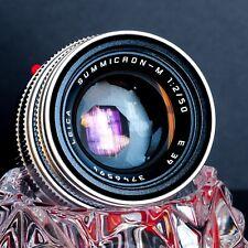 LEICA SUMMICRON-M 50mm f/2 11816 Version V Silver Chrome Lens EXCELLENT