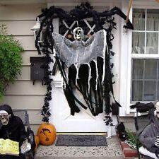 Halloween Hanging Ghost Skull  Haunted House Grim Reaper Horror Props Door Decor