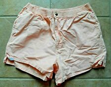 Lee men's short shorts vintage cotton peach Large 80's elastic zipper cotton 34