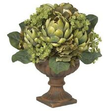 New Artichoke Centerpiece Artificial Floral Silk Arrangement Elegant Home Decor