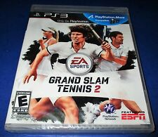 Grand Slam Tennis 2 Sony PlayStation 3 *Factory Sealed! *Free Shipping!