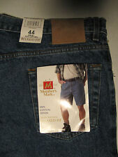 Denim Shorts size 44 Members Mark Relaxed fit Measures 43 x 9 NWT Men's