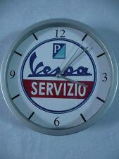 VESPA SERVIZIO pendule murale horloge 20cms ( KDO DKO SCOOTER MOTO ITALIE ITALIA