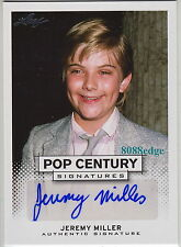 "2013 LEAF POP CENTURY AUTO: JEREMY MILLER - AUTOGRAPH ""GROWING PAINS-BEN SEAVER"""