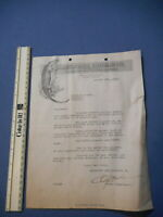 Alligator Oil Clothing Co Vintage Clothing Letterhead Antique Invoice Dated 1920