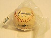 """Champion Sports Softball 11o SBLW 12/"""" 1 softball white /""""no leather cover/"""" NOS"""