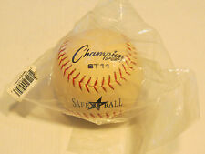 1 softball Champion Sports St11 SafeTball sponge core 11 inch official Nos Nwt
