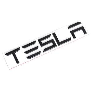 Gloss Black TESLA Letters Car Rear Trunk Lid Emblem for Tesla Model 3 S X Y