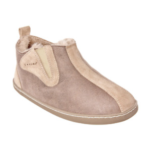 Womens Ladies Luxury Genuine Sheepskin Warm Lined Bootie Slippers Beige ALL Size