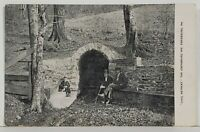 Ebensburg Pa Cool Retreat, Ebensburg Inn, Gentlemen & Boy at Spring? Postcard N6