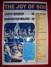 Leeds Rhinos 26 Warrington Wolves 18 - 2012 Grand Final - souvenir print