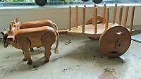 brasilianischer ochsenwagen kunsthandwerk holz beweglich 60er ausgefallen schön