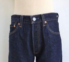 """LEVIS 501 size 28"""" Waist Women Vintage Mom Jeans USA Dark Indigo Wash"""