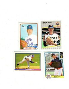 Nolan Ryan 4-card insert & regular issue lot