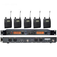 5 Receivers UHF Wireless In Ear Monitor System for Stage performance with MONO