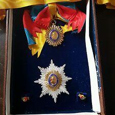 venezuela order simon bolivar medal grand cross complete original box vintage
