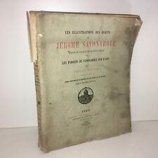 Gustave Gruyer LES ILLUSTRATIONS DES ECRITS DE JEROME SAVONAROLE 1879 - BB52A