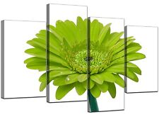 Large Lime Green Gerbera Daisy Canvas Wall Art Pictures Prints XL 4098