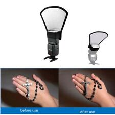 New Camera Flash Reflector Photo Bounce Card Diffuser Speedlite Accessories 7297