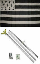 3x5 Bretagne Brittany Flag Aluminum Pole Kit Set 3'x5'